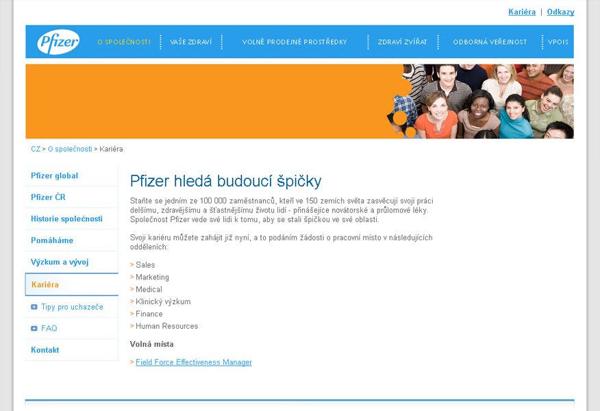 Pfizer - Career pages   LMC